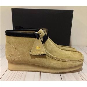 NWT Men's size 9.5 Clark's Wu Tang Wallabee maple
